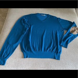 Preowned Alcott KNIT Sweater Blue Oil Crew-Neck